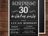 Thirtieth Birthday Invitations Surprise 30th Birthday Invitations for Him by