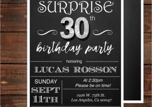 Thirtieth Birthday Invitations Surprise 30th For Him By