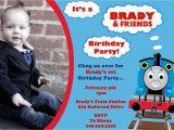 Thomas and Friends Birthday Invitation Cards Thomas the Train and Friends Birthday Invitation by