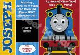 Thomas Birthday Invitations Personalized Thomas the Train Birthday Invitations Ideas Free