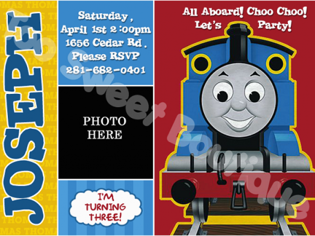 Download By SizeHandphone Tablet Desktop Original Size Back To Thomas Birthday Invitations Personalized