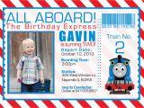 Thomas Birthday Invitations Personalized Thomas the Train Invitations Ideas Bagvania Free