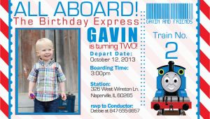 Thomas the Tank Engine Birthday Invitations Thomas the Train Invitations Ideas Bagvania Free