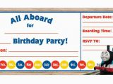 Thomas the Train Invites for Birthday Party 9 Train Birthday Invitations for Kid Free Printable