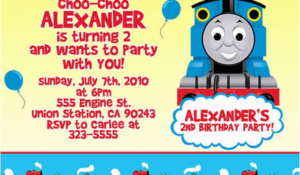 Download By SizeHandphone Tablet Desktop Original Size Back To Thomas The Train Invites For Birthday Party