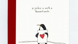Thousand Words Birthday Cards A Picture is Worth A Thousand Words Penguin Greeting Card