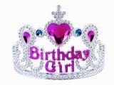 Tiara for Birthday Girl Cute Girls Princess Rhinestone Happy Birthday Crowns