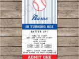 Ticket Birthday Invitation Template Baseball Ticket Invitation Template Baseball Invitations
