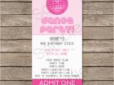 Ticket Birthday Invitation Template Dance Party Ticket Invitations Birthday Party