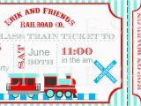 Ticket Birthday Invitation Template Train Ticket Birthday Invitation Template Best Party Ideas