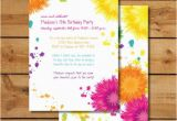 Tie Dye Birthday Party Invitations Birthday Party Invitations Tie Dye Colorful by Sugarhouseink