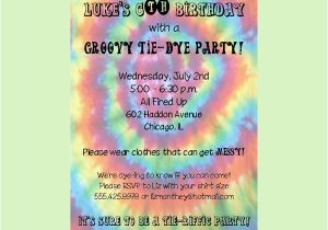 Tie Dye Birthday Party Invitations Free Printable Tie Dye Birthday Party Invitations Template