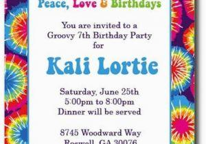 Tie Dye Birthday Party Invitations Items Similar to Tie Dye Invitations Hippie Chick On Etsy