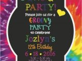 Tie Dye Birthday Party Invitations Tie Dye Birthday Invitation Birthday Party Invitation Kids