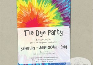 Tie Dye Birthday Party Invitations Tie Dye Invitation Instant Download Editable Text Pdf that