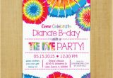 Tie Dye Birthday Party Invitations Tie Dye Invitation Printable
