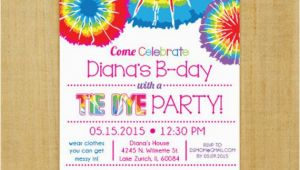 Tie Dye Birthday Party Invitations Tie Dye Invitation Printable