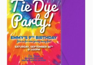 Tie Dye Birthday Party Invitations Tie Dye Invite Tie Dye Invitation Tie Dye Party Invitation
