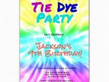 Tie Dye Birthday Party Invitations Tie Dye Party Art Birthday Party Invitation by Purplechicklet