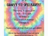Tie Dye Birthday Party Invitations Tie Dye Party Invitation
