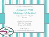 Tiffany Blue Birthday Invitations Tiffany Blue and Grey Stripes Invitations Can Be