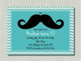 Tiffany Blue Birthday Invitations Tiffany Blue Mustache Birthday Girl Invitation by
