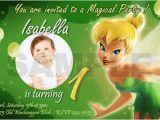 Tinkerbell 1st Birthday Invitations 10 Designs Tinkerbell Fairies Birthday Party Invitation