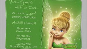 Tinkerbell 1st Birthday Invitations Great Tinkerbell Birthday Invitation Ideas Party Xyz