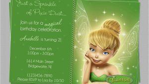 Tinkerbell 1st Birthday Invitations Great Tinkerbell Birthday Invitation Ideas Party Xyz