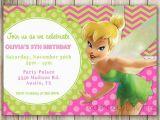 Tinkerbell 1st Birthday Invitations Items Similar to Tinkerbell Chevron Birthday 1st Birthday
