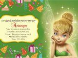 Tinkerbell 1st Birthday Invitations Tinkerbell Birthday Invitation Cards