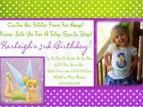 Tinkerbell 1st Birthday Invitations Tinkerbell Birthday Invitation Free