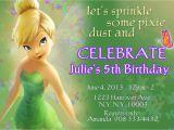 Tinkerbell 1st Birthday Invitations Tinkerbell Fairies Invitation