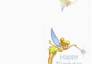 Tinkerbell Birthday Cards Free Printable Disney Clipart