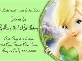 Tinkerbell Birthday Invites Free Templates for Birthday Invitations Drevio