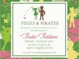 Tinkerbell Birthday Invites Pixies and Pirates Invitation Tinkerbell