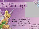 Tinkerbell Birthday Invites Tinkerbell Birthday Invitations Free