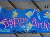 Tinkerbell Happy Birthday Banner 1 Tinkerbell Blue Happy Birthday Banner