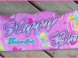 Tinkerbell Happy Birthday Banner 1 Tinkerbell Pink Happy Birthday Banner Ebay