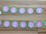 Tinkerbell Happy Birthday Banner Tinkerbell Pink Happy Birthday Banner Tink Birthday Party