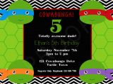 Tmnt Birthday Invitations Free Free Printable Ninja Turtle Birthday Invitations