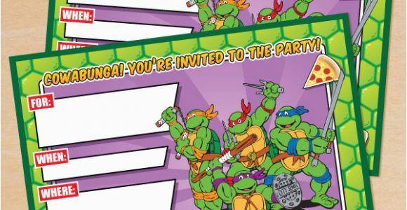 Tmnt Birthday Invitations Free Free Printable Retro Tmnt Ninja Turtle Birthday Invitation