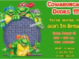 Tmnt Birthday Invitations Free Free Printable Teenage Mutant Ninja Turtles Birthday
