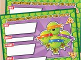 Tmnt Birthday Invitations Free Free Printable Tmnt Ninja Turtle Birthday Invitation