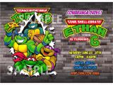 Tmnt Birthday Invitations Free Teenage Mutant Ninja Turtle Birthday Party Invitations
