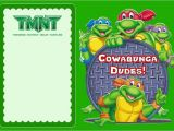 Tmnt Birthday Invitations Free Teenage Mutant Ninja Turtles Another Great Idea for A