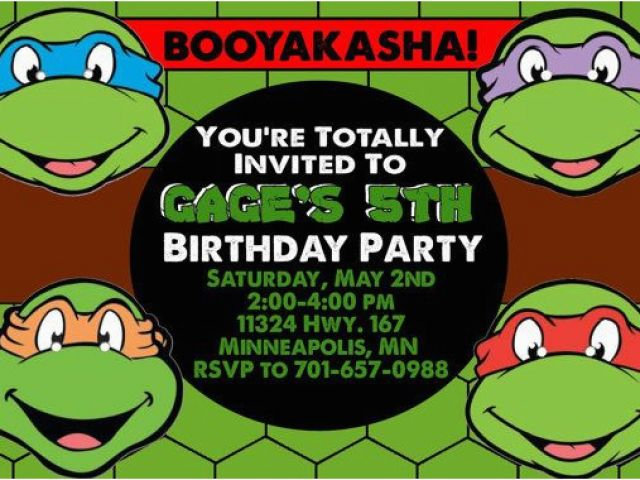 Download By SizeHandphone Tablet Desktop Original Size Back To Tmnt Birthday Invitations Free