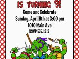 Tmnt Birthday Invitations Free Teenage Mutant Ninja Turtles Birthday Party Invitation