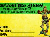 Tmnt Birthday Invitations Free totally Awesome Teenage Mutant Ninja Turtles Party Ideas