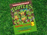 Tmnt Birthday Invites Teenage Mutant Ninja Turtles Birthday Invitations Ninja